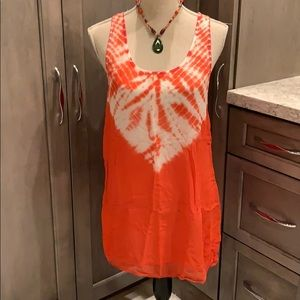 NWT Silk tie-dye sleeveless tank top